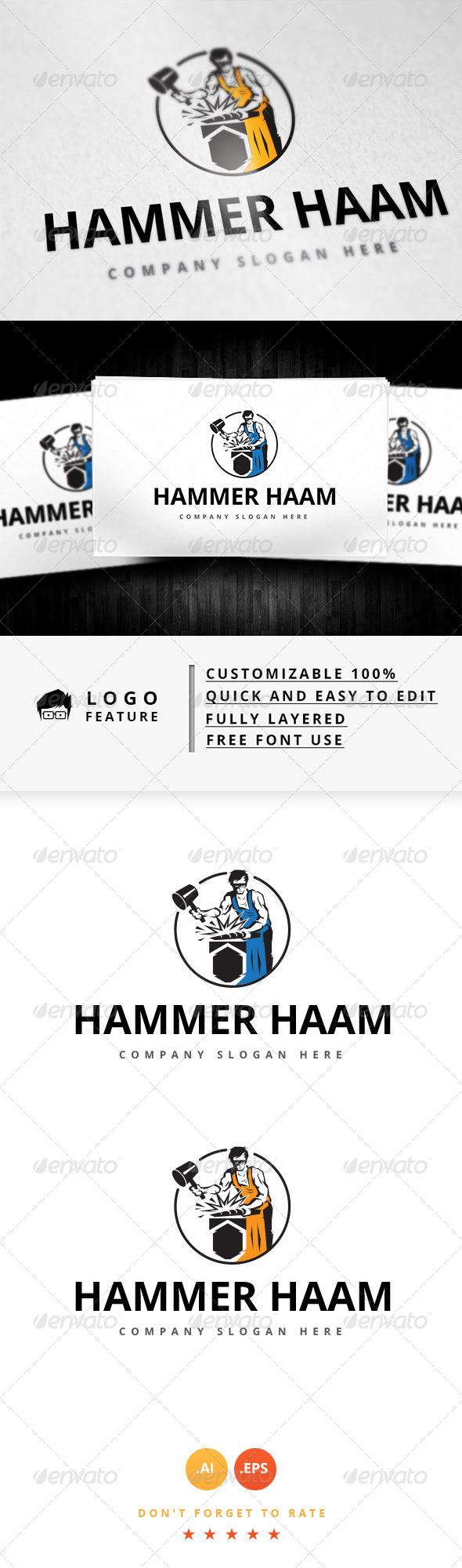GraphicRiver Hammer Haam Logo 8279003