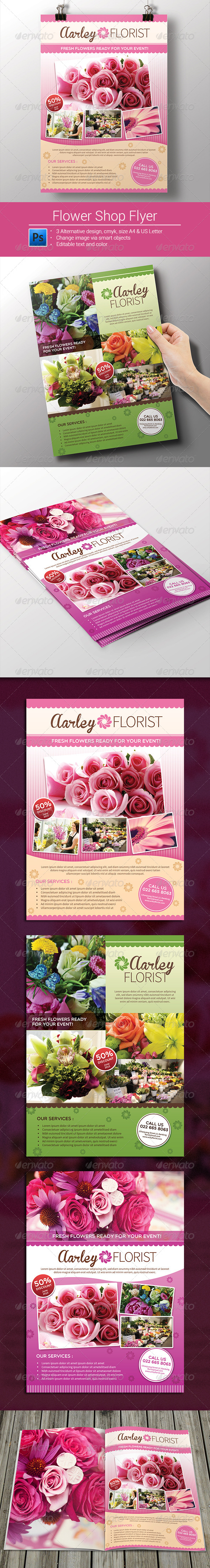 GraphicRiver Flower Shop Flyer Magazine Ad 8279050