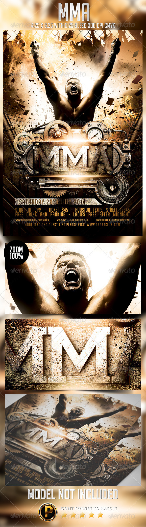 GraphicRiver MMA Flyer Template 8279182