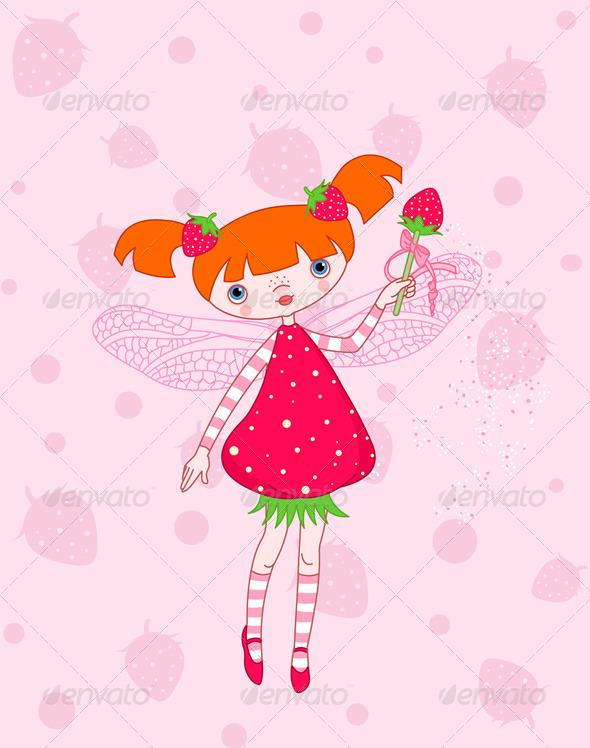 GraphicRiver Strawberry Fairy 8279191