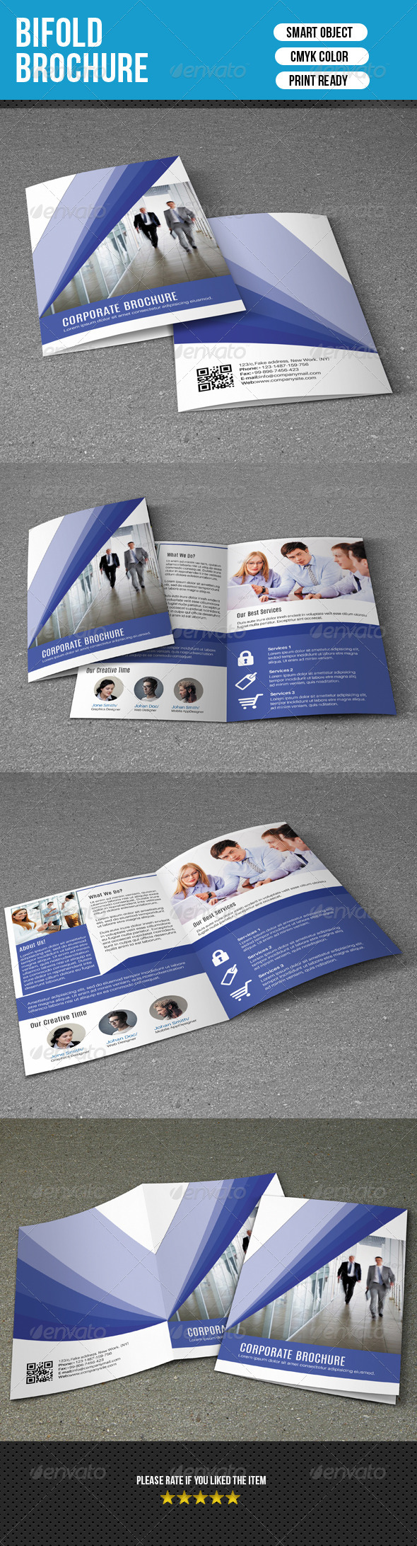 GraphicRiver Bifold Brochure-V93 8279295