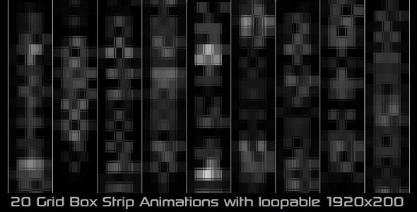 Grid Box Strip Elements Pack