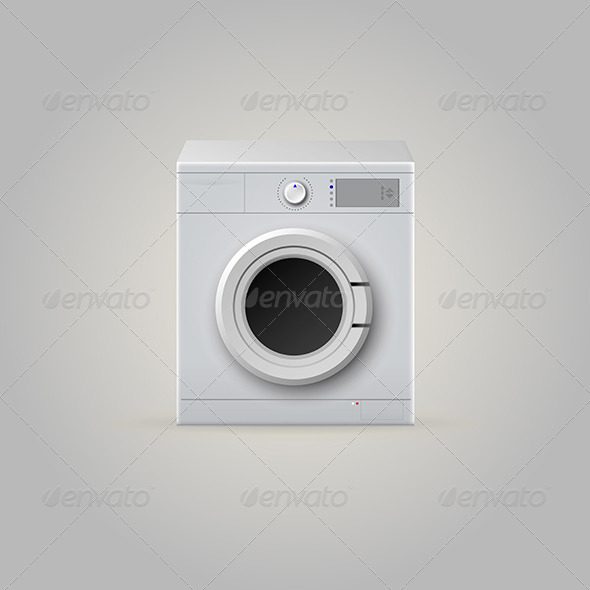 GraphicRiver Illustration of Washing Machine 8279429