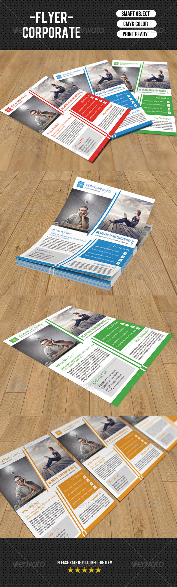 GraphicRiver Corporate Flyer Template-V84 8279480