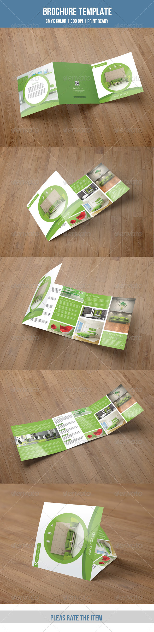 Square Trifold Brochure Interior Design