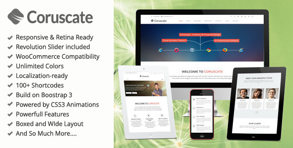 Coruscate - MultiPurpose Bootstrap WordPress Theme - Corporate WordPress