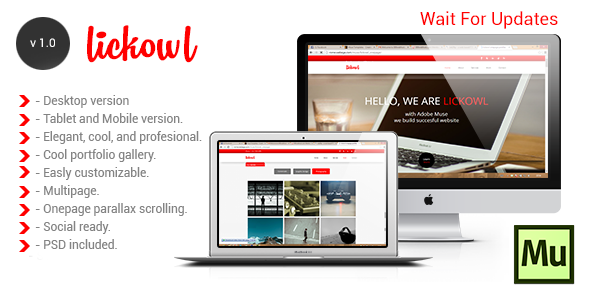 ThemeForest Lickowl Muse Templates 8135399