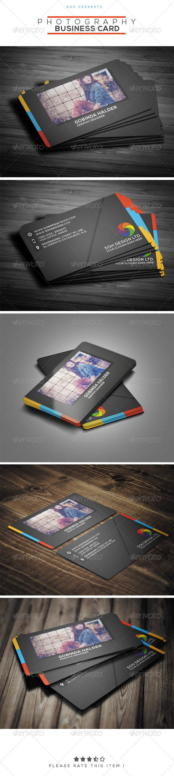 GraphicRiver Photography Business Card Template 8279741
