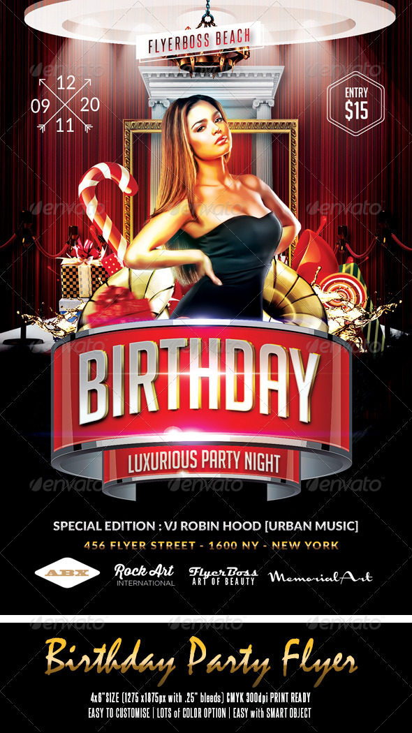 GraphicRiver Birthday Party Flyer 8279985