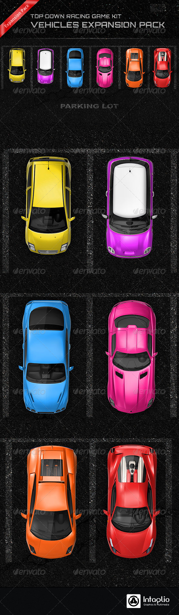 GraphicRiver Top Down Racing Game Kit Vehicles Expansion Pack 8280548