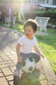 Happy child with soccer - PhotoDune Item for Sale