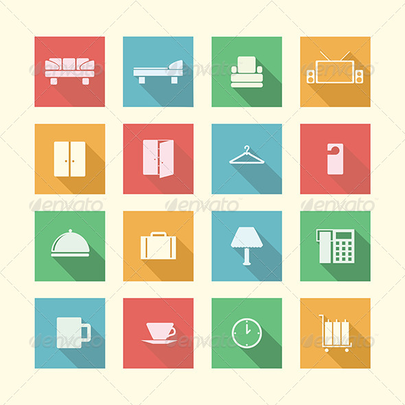 GraphicRiver Flat Icons for Hotel 8280743
