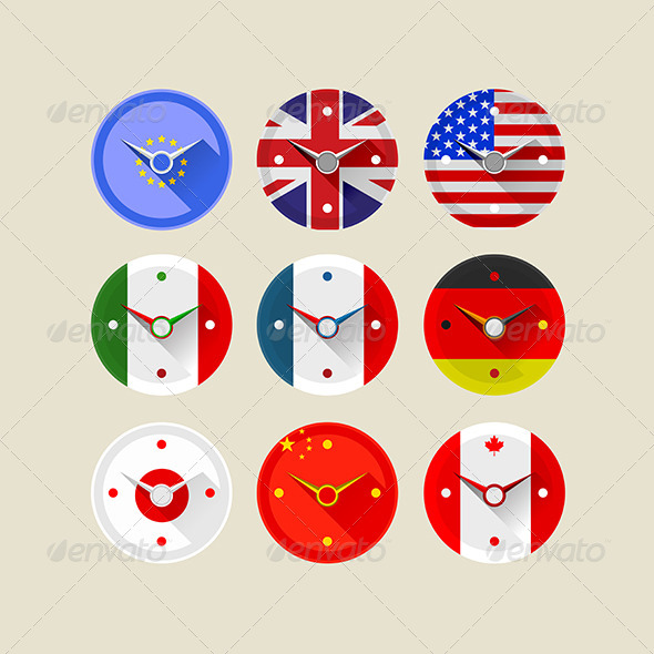 GraphicRiver Icons for Clocks 8280757