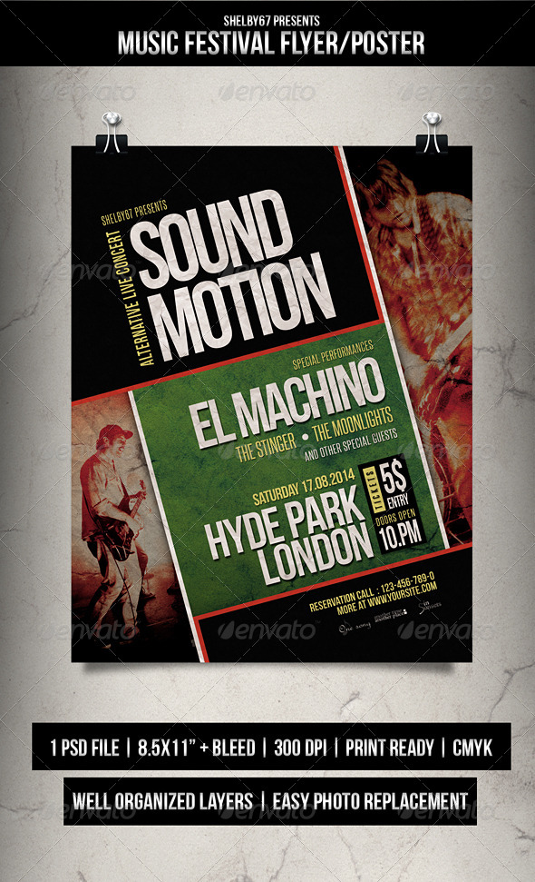 GraphicRiver Music Festival Flyer Poster 8280765