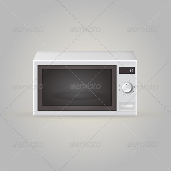 GraphicRiver Illustration of Microwave 8280778