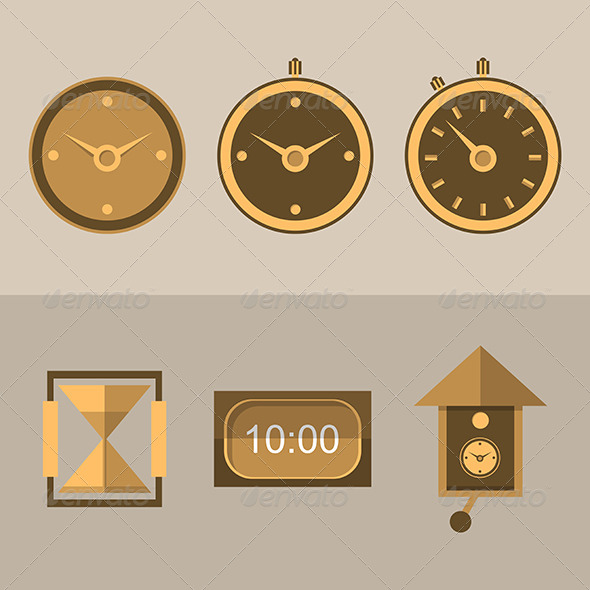 GraphicRiver Clock Icons 8280812