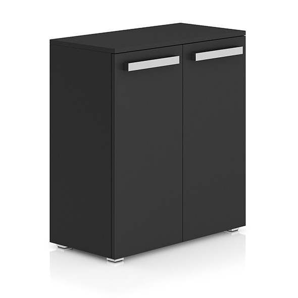 3DOcean Dark-grey Cabinet with Doors 8280836