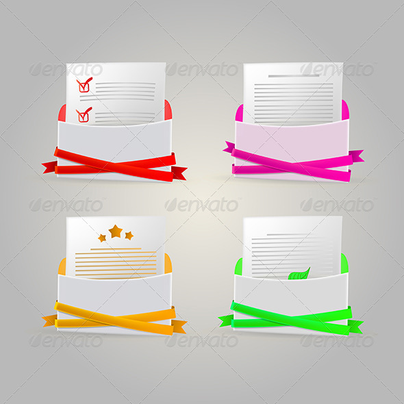 GraphicRiver Illustration of Envelopes 8280867