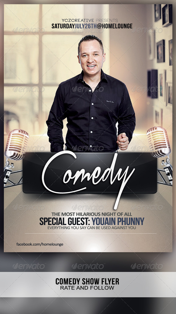GraphicRiver Comedy Show Flyer 8280911