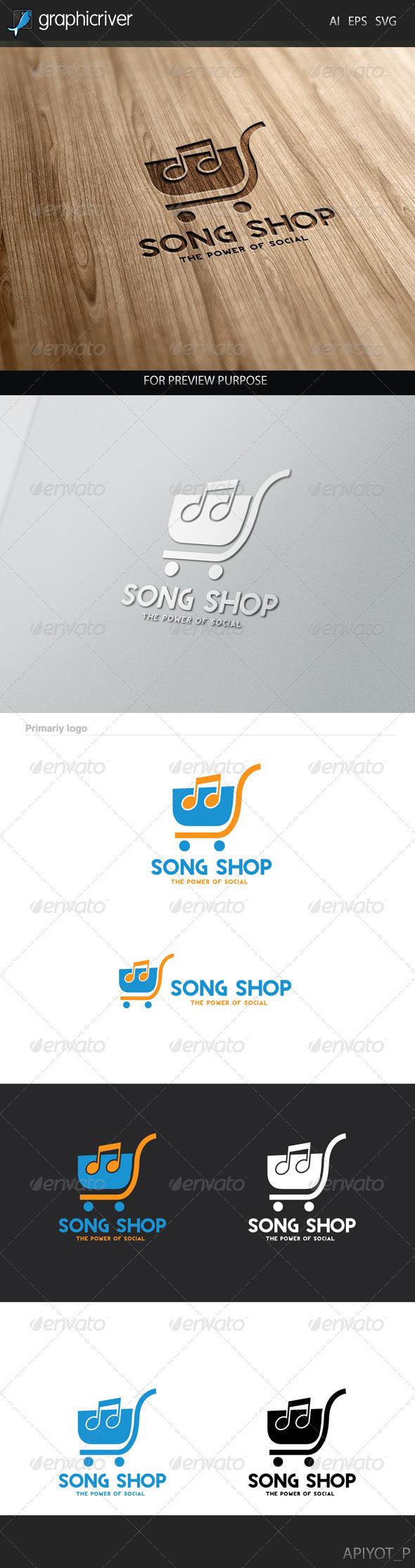 GraphicRiver Song Shop Logo 8281037