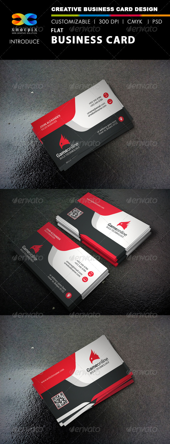 GraphicRiver Flat Business Card 8281272