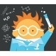 Crazy Scientist in Glasses with a Bulb - GraphicRiver Item for Sale