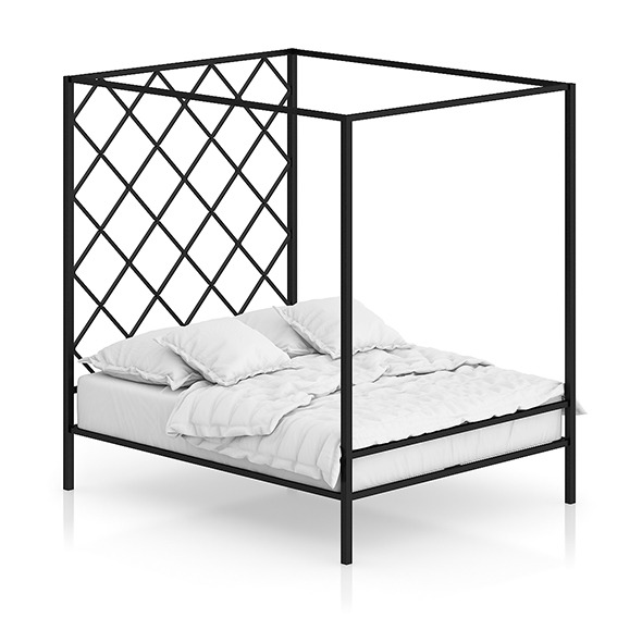 Large Metal Bed - 3DOcean Item for Sale