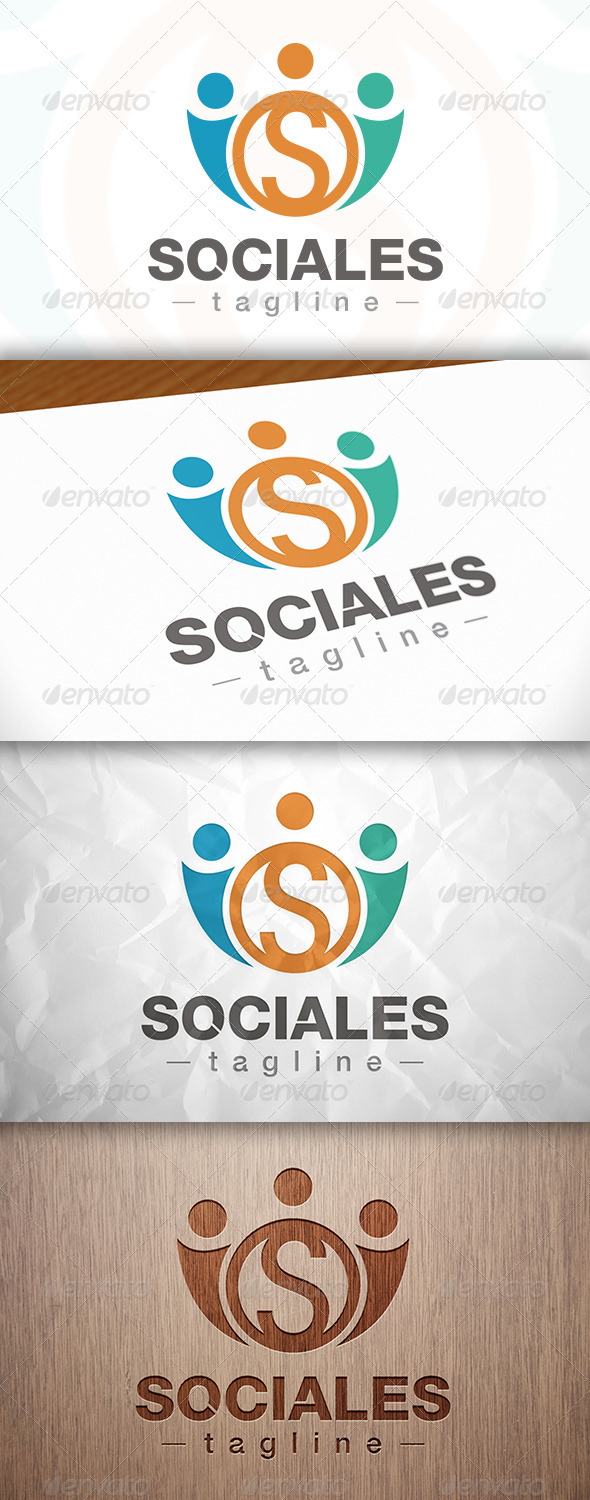 GraphicRiver Social People S Letter Logo 8281926
