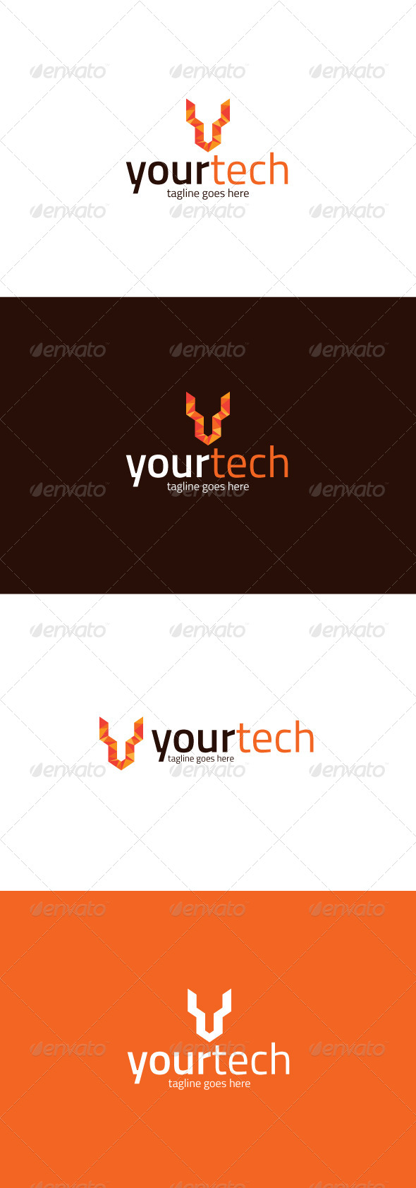 GraphicRiver Your Tech Logo Letter Y 8282013