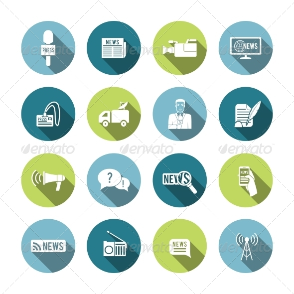 GraphicRiver Set of Journalism Icons 8282033