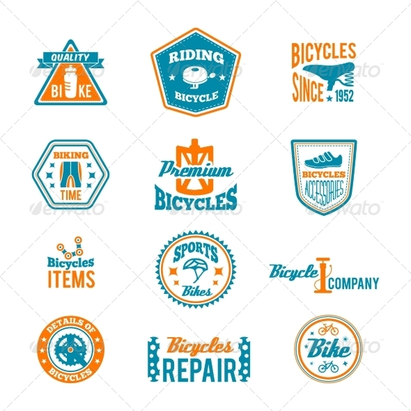 GraphicRiver Set of Bicycling Label 8282042