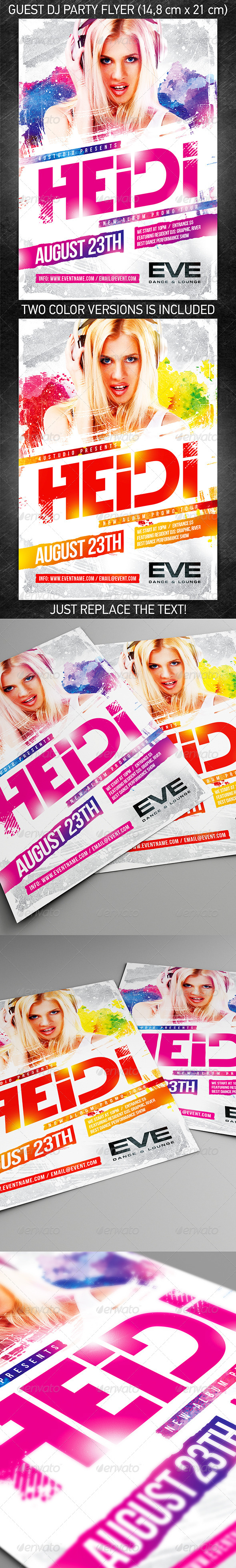 GraphicRiver Guest DJ Party Flyer vol.6 8282044