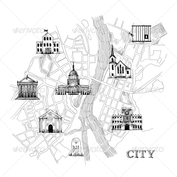 GraphicRiver Information City Map 8282058