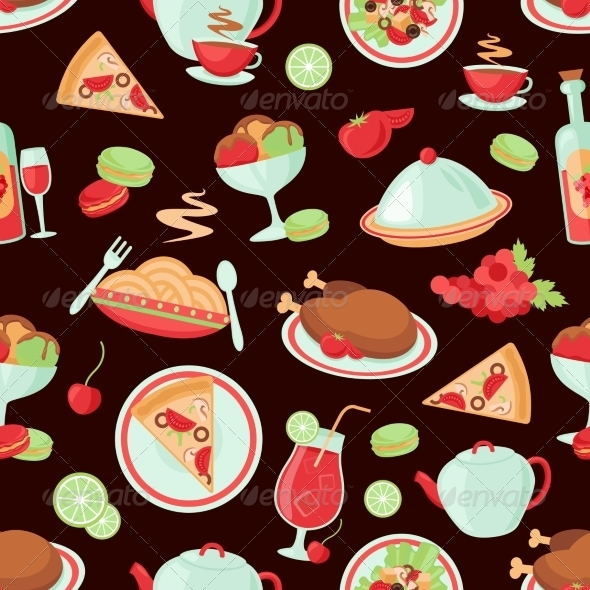 GraphicRiver Restaurant Seamless Pattern 8282069