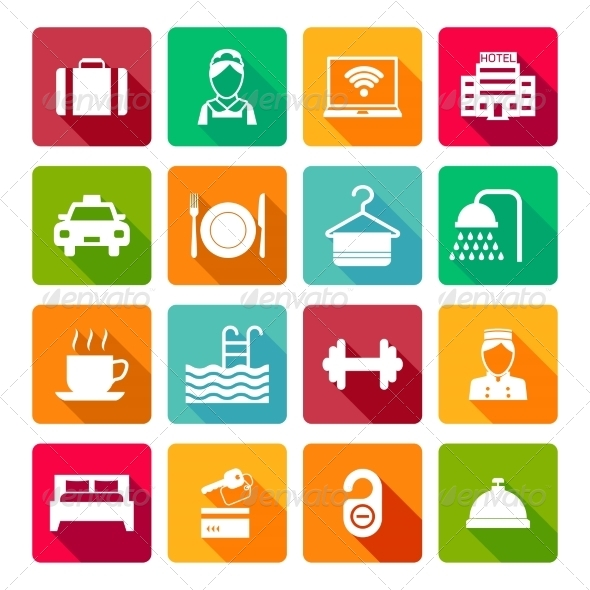 GraphicRiver Set of Hotel Icons 8282089