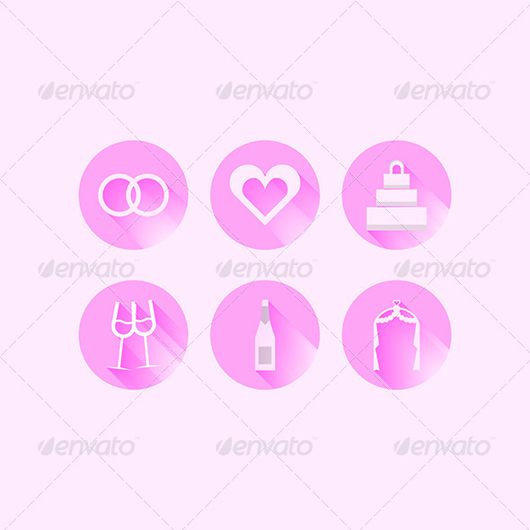 GraphicRiver Wedding Icons 8282098