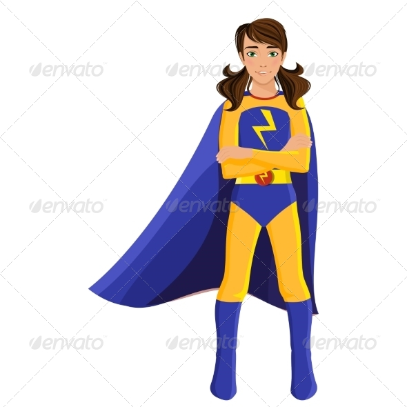 GraphicRiver Girl in Superhero Costume 8282101