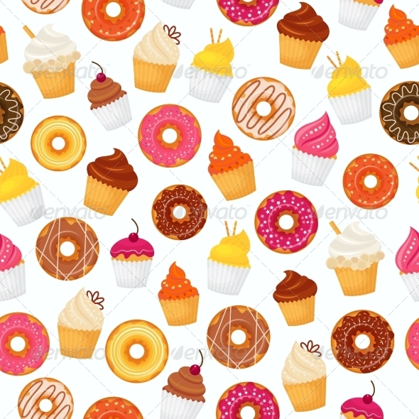 GraphicRiver Donut Seamless Pattern 8282151