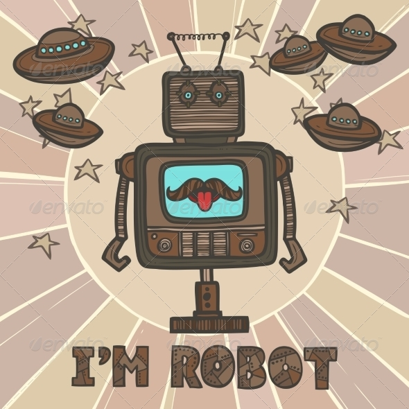 GraphicRiver Hipster Robot Design 8282179