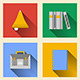 Flat Icons for School Supplies - GraphicRiver Item for Sale