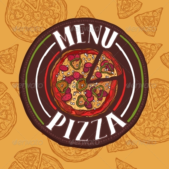 GraphicRiver Pizza Sketch Menu 8282202