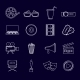 Cinema Icons Set Outline - GraphicRiver Item for Sale