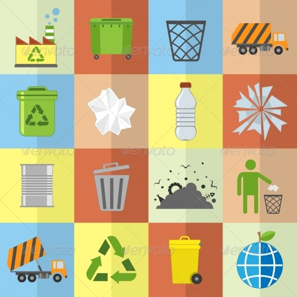 GraphicRiver Garbage Icons Set 8282215