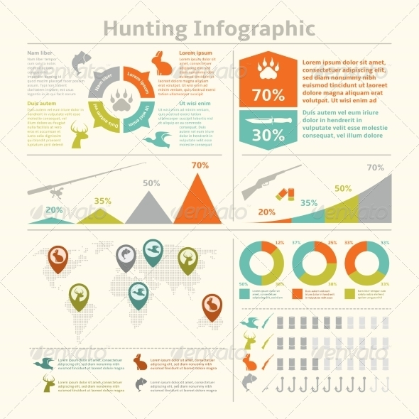 GraphicRiver Hunting Infographics 8282219