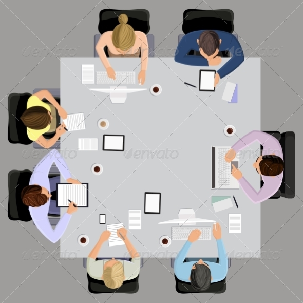 GraphicRiver Business Meeting in Top View 8282233
