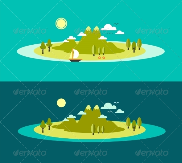 GraphicRiver Flat Landscape Design 8282239