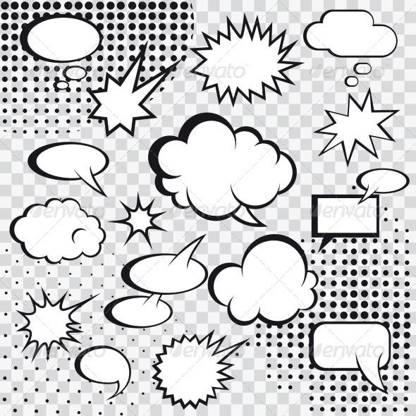 GraphicRiver Comic Speech Bubbles 8282243