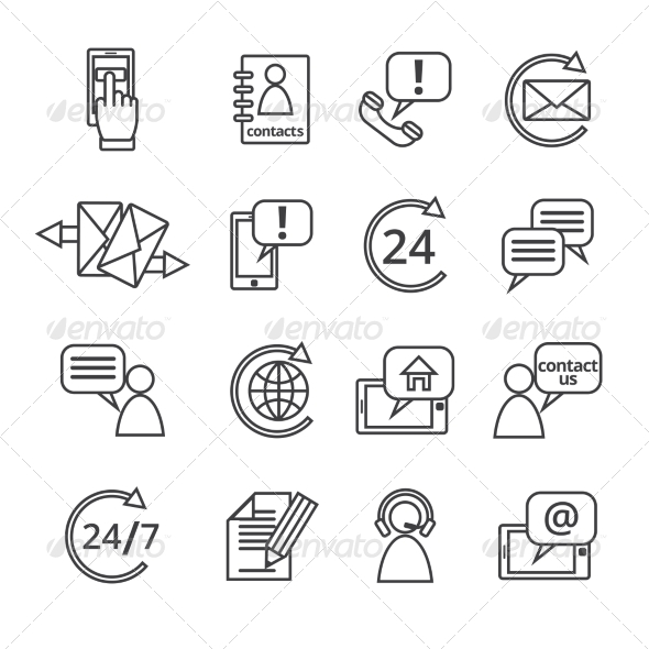 GraphicRiver Contact Us Service Icons 8282244