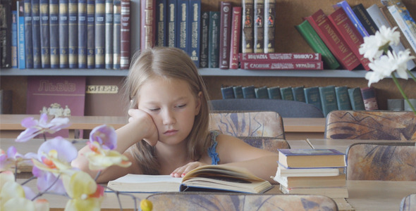 Girl in The Library 5