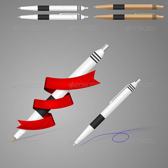 GraphicRiver Illustration of Pens 8282520